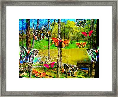 My Butterflies Framed Print by Jennifer McGuire