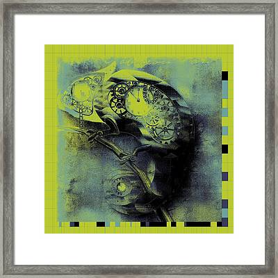 Chameleon - Lime - 01b02 Framed Print by Variance Collections