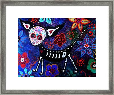 My Chihuahua Dia De Los Muertos Framed Print by Pristine Cartera Turkus