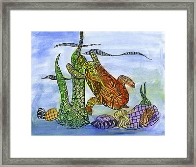My Coastal Turtle By Raj Kashikar 3rd Grade Framed Print by California Coastal Commission