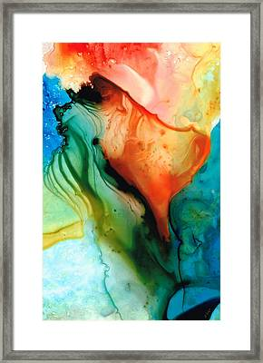 My Cup Runneth Over - Abstract Art By Sharon Cummings Framed Print by Sharon Cummings