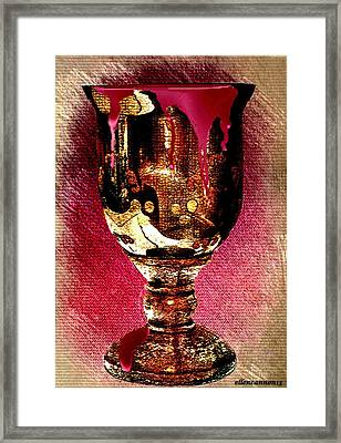 My Cup Runnith Over Framed Print by Ellen Cannon