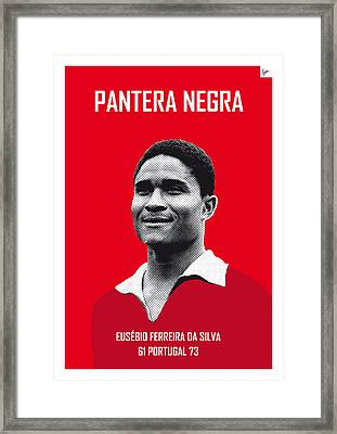 My Eusebio Soccer Legend Poster Framed Print by Chungkong Art