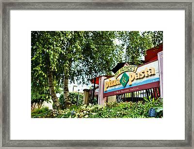 My Father's Pizza Memento Framed Print by Mela Luna