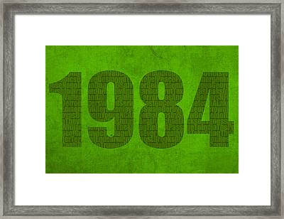 My Favorite Year 1984 Word Art On Canvas Framed Print by Design Turnpike