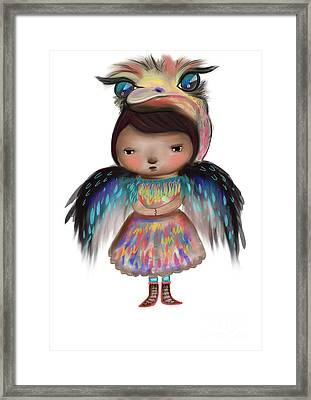 My Favourite Animal Is The Ostrich Framed Print by Beatrice Ajayi