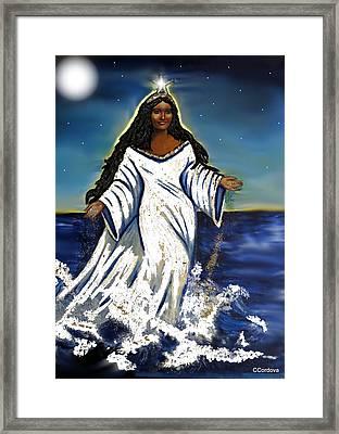 My First Yemaya Framed Print by Carmen Cordova