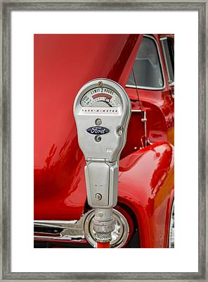 My Ford Parking Space Framed Print by Carolyn Marshall