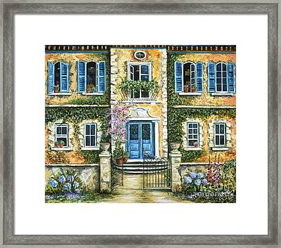 My French Villa Framed Print by Marilyn Dunlap