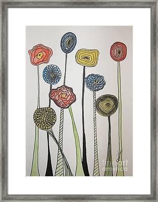 My Garden Framed Print by Marcia Weller-Wenbert