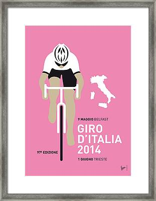 My Giro D Italia Minimal Poster 2014 Framed Print by Chungkong Art