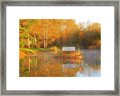 My Golden Pond Framed Print by Karen Cook