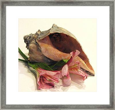 My Heart Is At The Beach Framed Print by Angela Davies