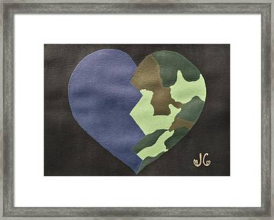 My Heart Framed Print by Jessica Cruz
