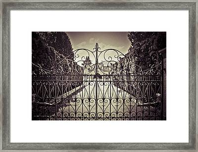 My Home Is My Fortress Vintage Framed Print by Eti Reid