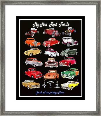 My Hot Rod Ford Poster Framed Print by Jack Pumphrey