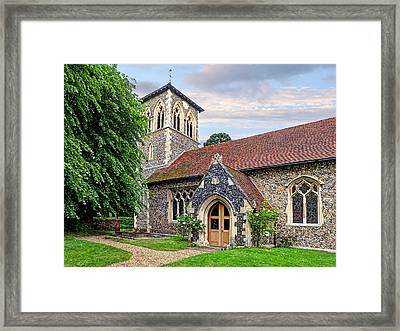 My House Is Yours - Ancient Stone Church Framed Print by Gill Billington