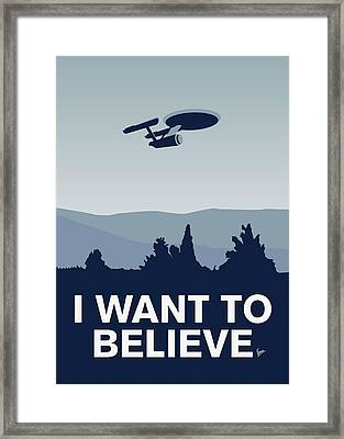 My I Want To Believe Minimal Poster-enterprice Framed Print by Chungkong Art