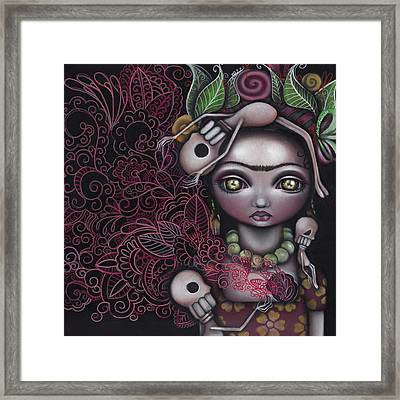 My Inner Feelings Framed Print by  Abril Andrade Griffith
