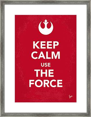 My Keep Calm Star Wars - Rebel Alliance-poster Framed Print by Chungkong Art