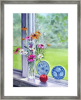 My Kitchen Window Framed Print by Karol Wyckoff