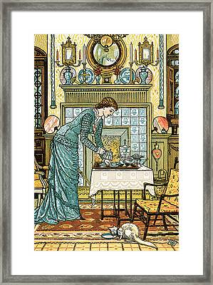 My Lady's Chamber Framed Print by Walter Crane
