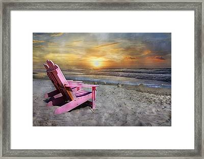 My Life As A Beach Chair Framed Print by Betsy Knapp
