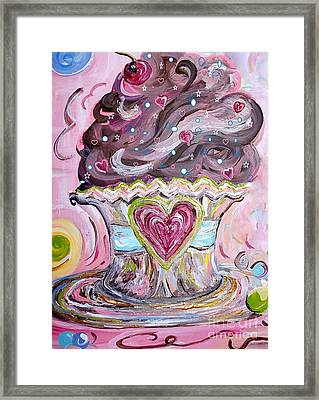 My Lil Cupcake - Chocolate Delight Framed Print by Eloise Schneider