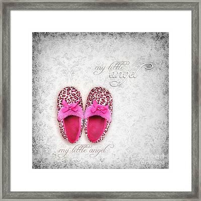 My Little Angel Bw Framed Print by Prajakta P