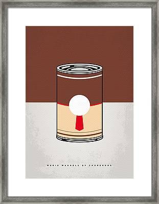 My Mario Warhols Minimal Can Poster-donkey Kong Framed Print by Chungkong Art
