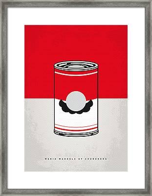 My Mario Warhols Minimal Can Poster-mario Framed Print by Chungkong Art