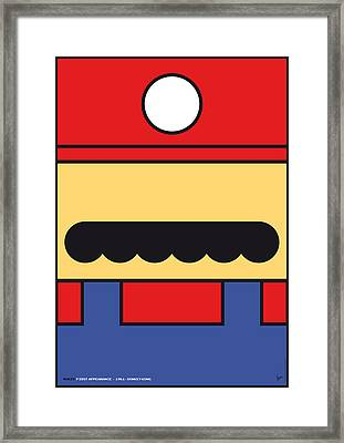 My Mariobros Fig 01 Minimal Poster Framed Print by Chungkong Art
