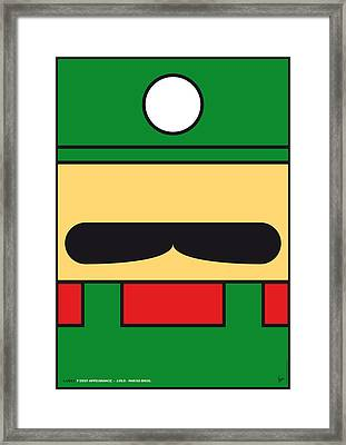 My Mariobros Fig 02 Minimal Poster Framed Print by Chungkong Art