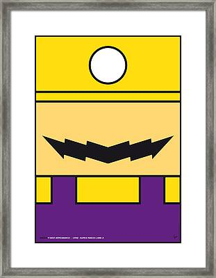 My Mariobros Fig 04 Minimal Poster Framed Print by Chungkong Art