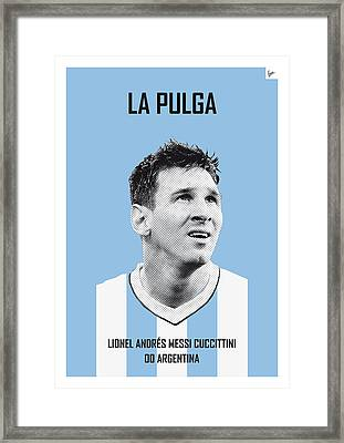 My Messi Soccer Legend Poster Framed Print by Chungkong Art