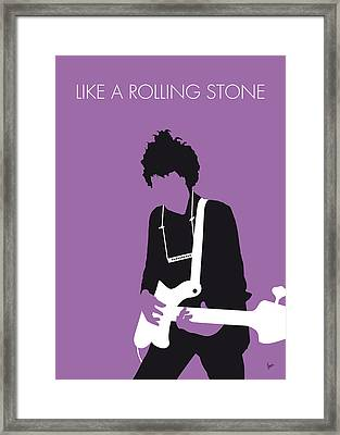 No001 My Bob Dylan Minimal Music Poster Framed Print by Chungkong Art