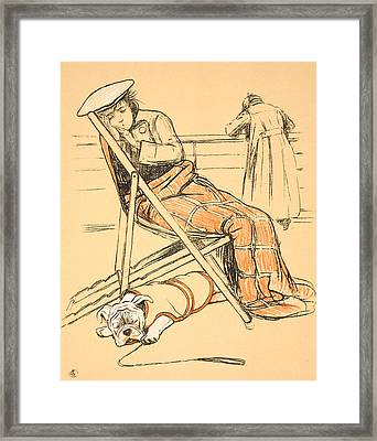 My Miserable Mistress Framed Print by Cecil Charles Windsor Aldin
