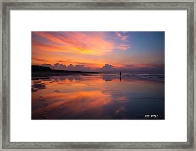 My Morning Walk Framed Print by Walt  Baker