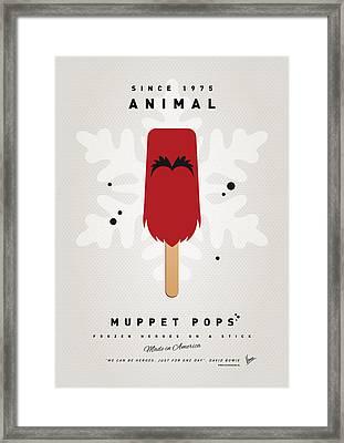 My Muppet Ice Pop - Animal Framed Print by Chungkong Art