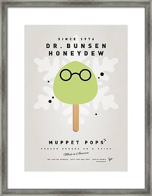 My Muppet Ice Pop - Dr Bunsen Honeydew Framed Print by Chungkong Art