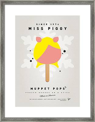 My Muppet Ice Pop - Miss Piggy Framed Print by Chungkong Art