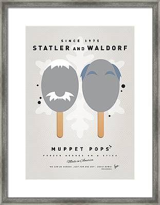 My Muppet Ice Pop - Statler And Waldorf Framed Print by Chungkong Art