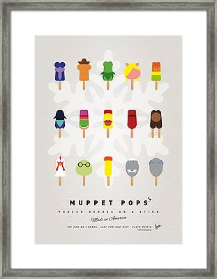 My Muppet Ice Pop - Univers Framed Print by Chungkong Art