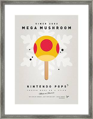 My Nintendo Ice Pop - Mega Mushroom Framed Print by Chungkong Art