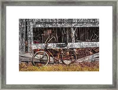 My Old Bike Framed Print by Debra and Dave Vanderlaan