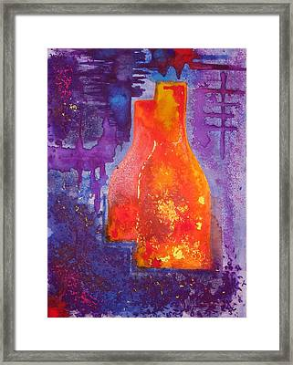 My Old Wine Bottles Framed Print by Mario Perez