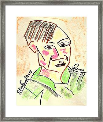 Picasso Framed Print by Richard W Linford