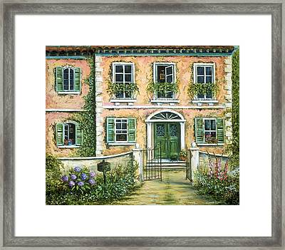My Pink Italian Villa Framed Print by Marilyn Dunlap
