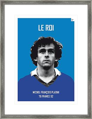 My Platini Soccer Legend Poster Framed Print by Chungkong Art