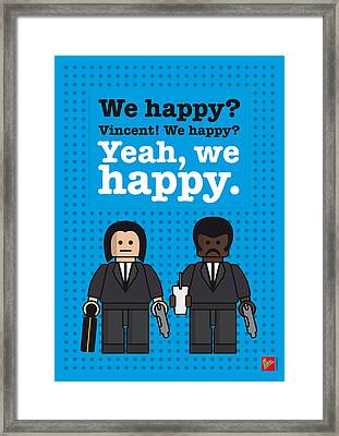 My Pulp Fiction Lego Dialogue Poster Framed Print by Chungkong Art